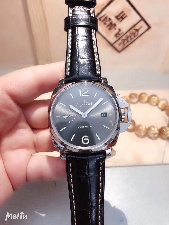 IWHSB Relojes de Pulsera automáticos de Marca Mecánica automática Señora Mujer Zafiro de Cuero Negro Acero Inoxidable Esfera Negra Relojes Deportivos Fecha de vencimiento