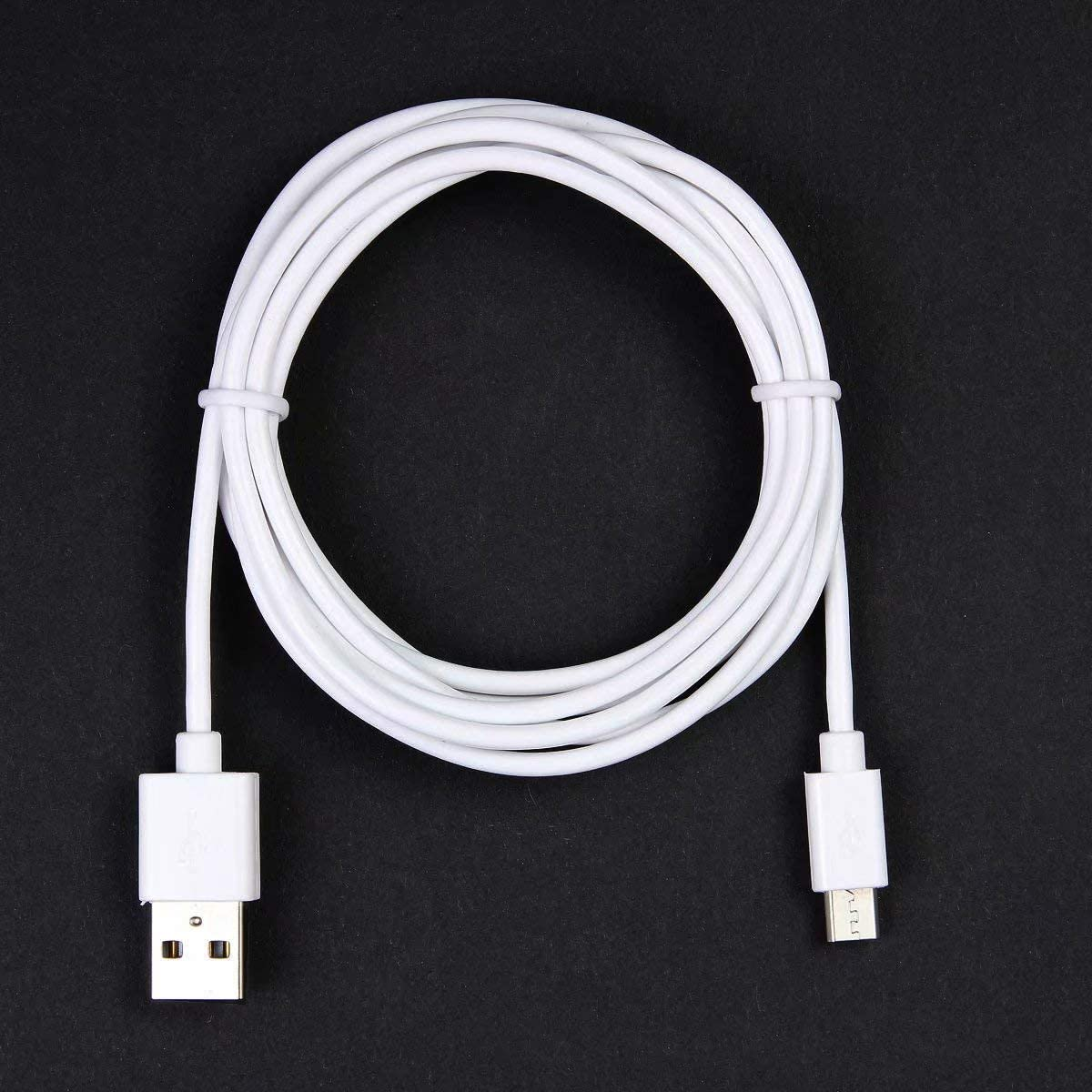 6 Feet POWE-Tech USB Power Charging Cable Charger Cord Lead for Bang/&Olufsen Beoplay H8 Headpone White