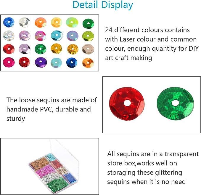 rosenice lentejuelas para DIY Manualidades artesan/ía decoraci/ón 6/mm Champagne