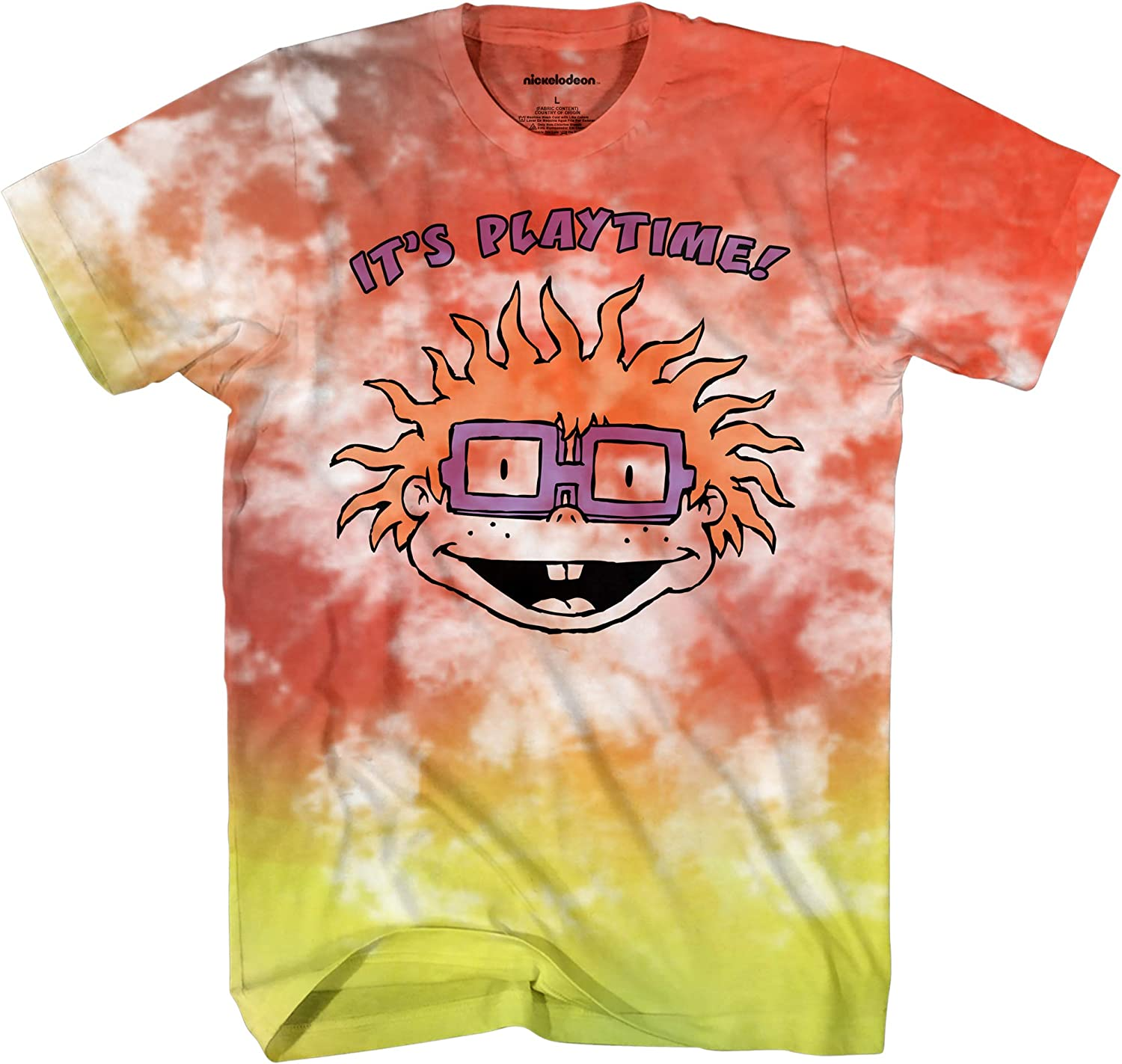 Nickelodeon Mens 90's Classic Shirt - Rugrats, Invader Zim, Ren & Stimpy, and Hey Arnold Vintage T-Shirt