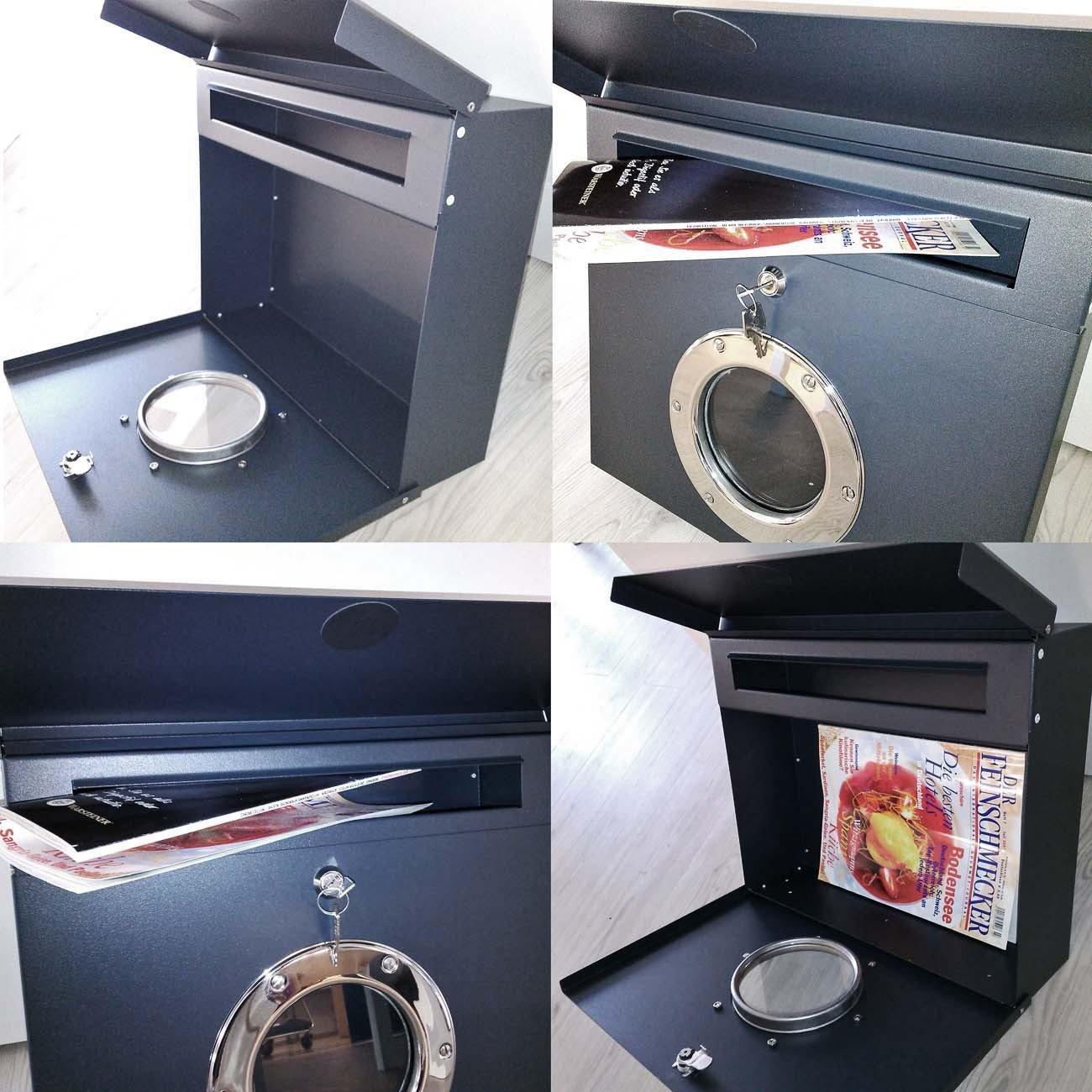 Briefkasten Radius radius letterman i briefkasten mit bullauge postkasten