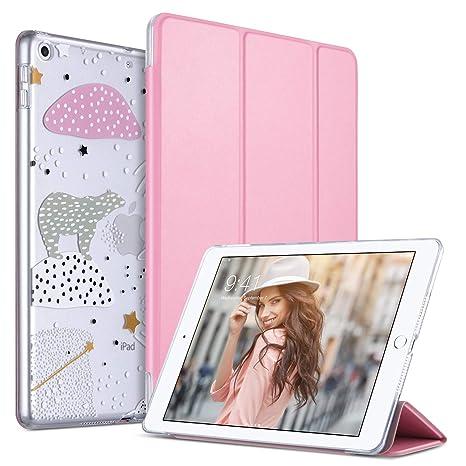 ULAK Funda iPad 9,7 Pulgada 2018/2017, Ultra Slim automático magnético y función de sueño Smart Cubierta Trifold Stand Caso para el Nuevo iPad 9,7 ...
