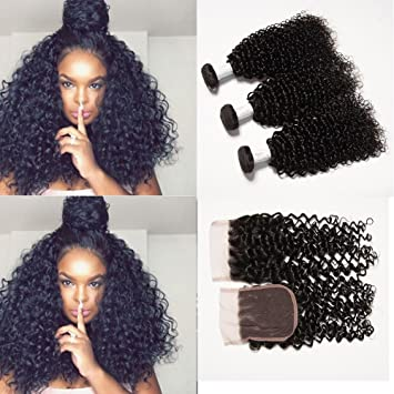 amazon com baby young hair virgin brazilian afro curly weave with