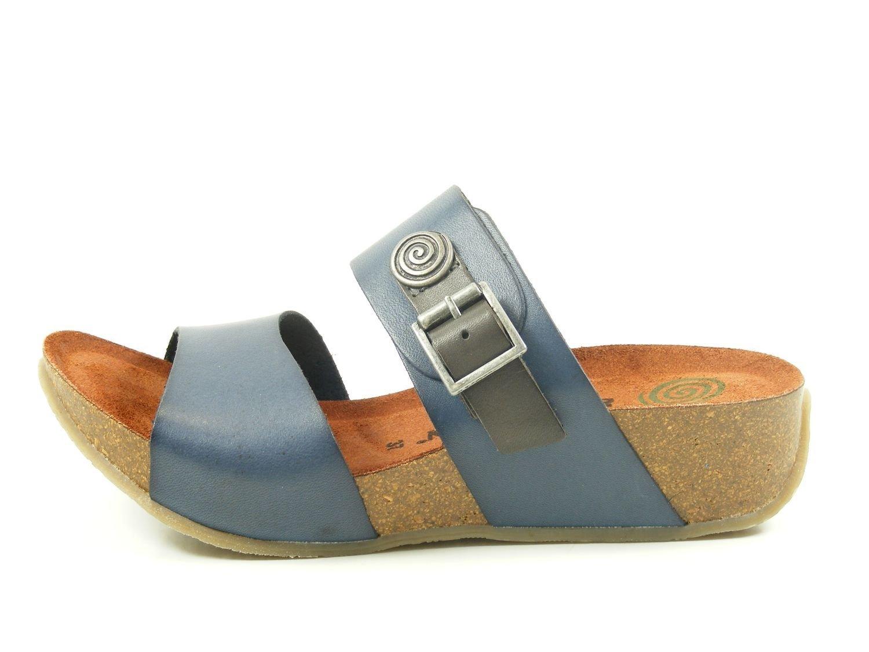 Mujeres Zapatos abiertos blau azul, (blau) 700959 37 EU Azul