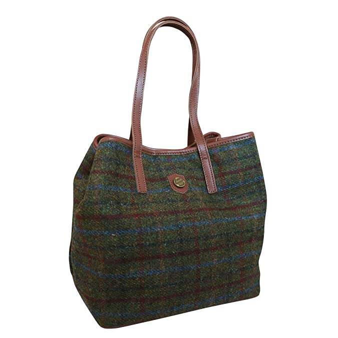Amazon.com: Bonfanti piel y tradicional Harris Tweed – Tote ...