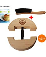 Premium Hat Mate Hat Stretcher with BONUS Hat Brush & Ebook. Solid Wood, One Size Fits All, Heavy Duty, Hat Stretchers Hat to Fit Perfectly, Removes Pinching, Clothes Brush, Fedora Cowboy Hat Jack
