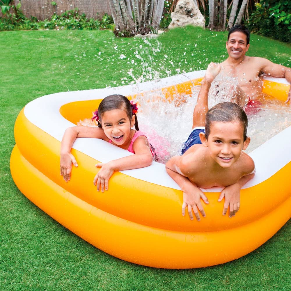 Intex Mandarin Swim Center Family Pool Kinder Aufstellpool Planschbecken 229 X 147 X 46 Cm Für 3 Jahre Amazon De Garten