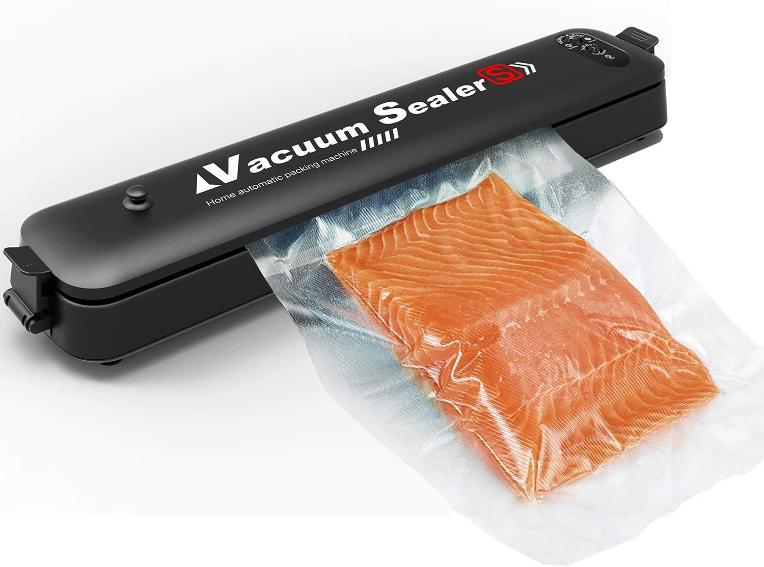 Vacuum Sealer Machine Automatic Vacuum Sealing System for Food Preservation Food Sealer for Food Savers Starter Kit/Easy to Clean/Led Indicator Lights/Compact Design/Dry&Moist Food Model(&15pcs Bags)