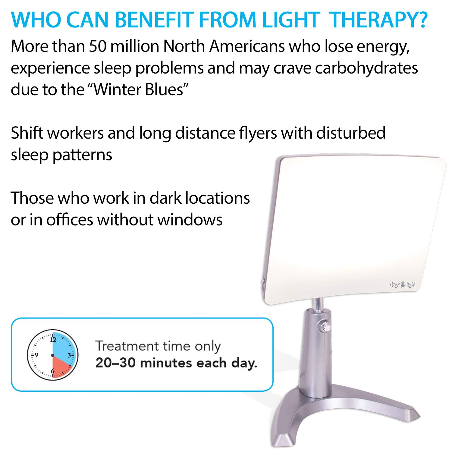 Carex Day-Light Classic Plus Bright Light Therapy Lamp - 10,000 LUX - Sun Lamp Mood Light by Carex Health Brands (Image #2)