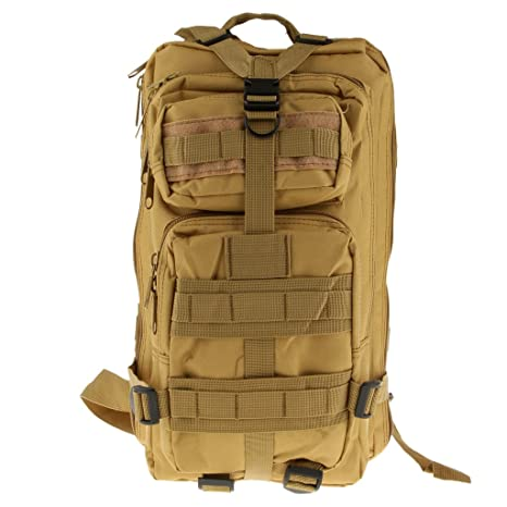 68e87c8bb77b Imported Outdoor Military Tactical Backpack Camping Hiking Trekking Bag 30L  Khaki  Amazon.in  Sports