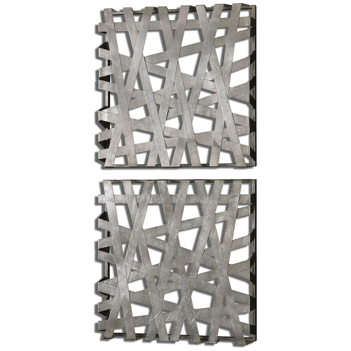 Amazon.com: Uttermost 07676 Alita Squares Wall Art (Set Of 2): Home U0026  Kitchen