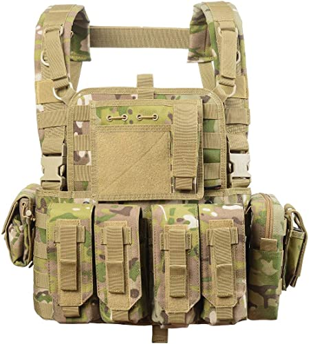 vAv Yakeda Tactical Vest Military Chest Rig Airsoft Swat Vest for Men