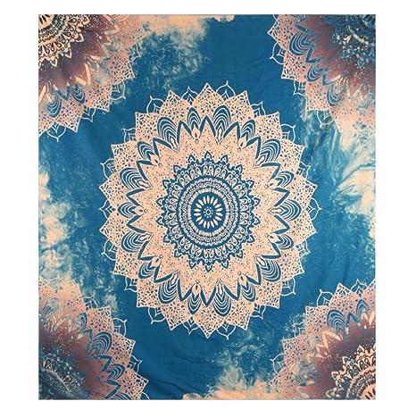 Sannysis Toallas de playa, Indian Mandala Beach Towel, kimono Túnica, 148cm x 210cm