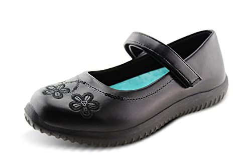 8a21690fa5407 Amazon.com: Jabasic Girls Mary Jane Dress Shoes Strap School Uniform ...