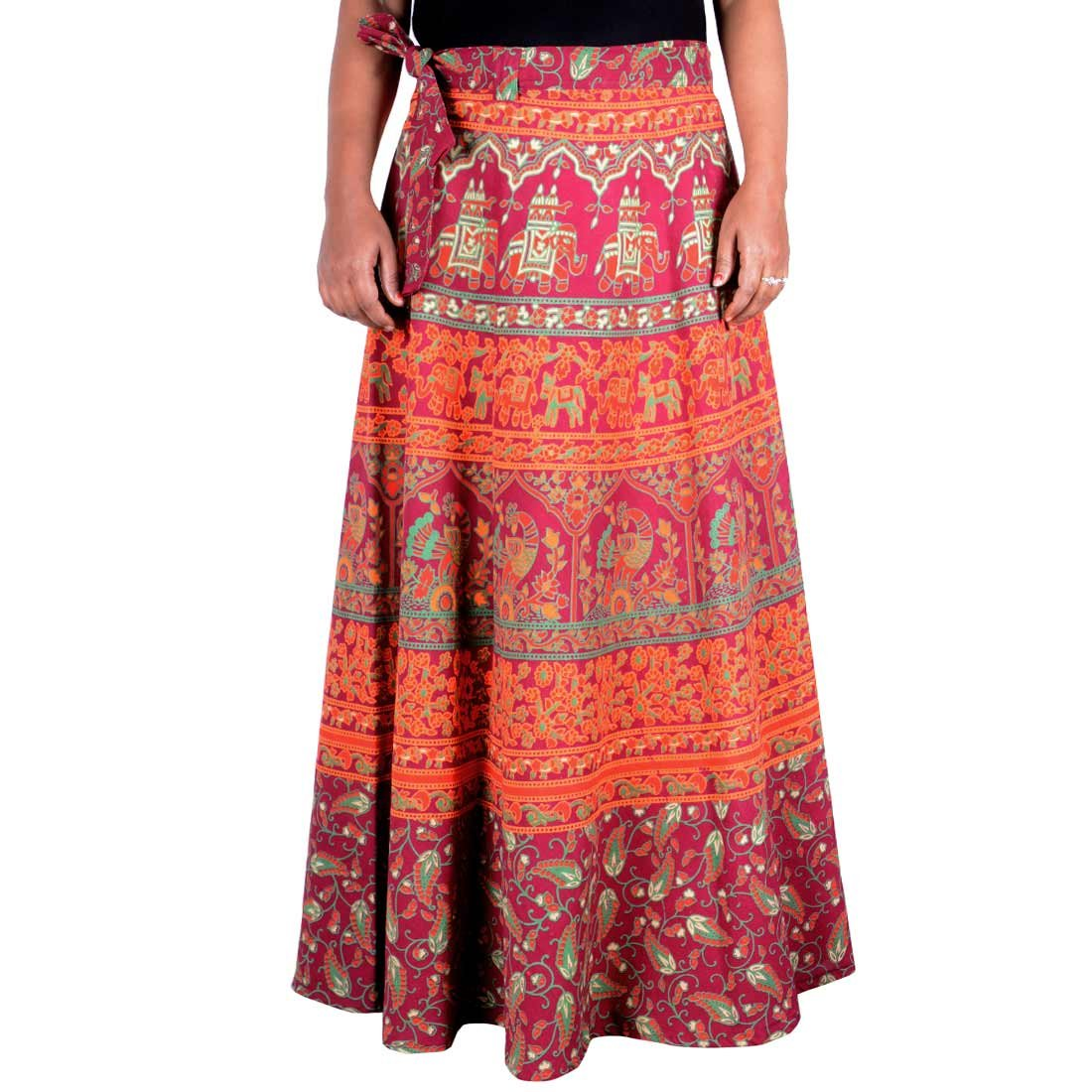 7d7e3dc9d8 Sttoffa Skirt Indian Multi Color Cotton Long Wrap Around Skirt Ethnic  Traditional Rapron Skirt at Amazon Women's Clothing store: