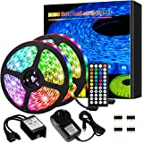 Led Lights, Led Strip Lights,10M 300 LEDs 5050 RGB Rope Lights, IP20 Non Waterproof Color Changing with 20 Colors 8…
