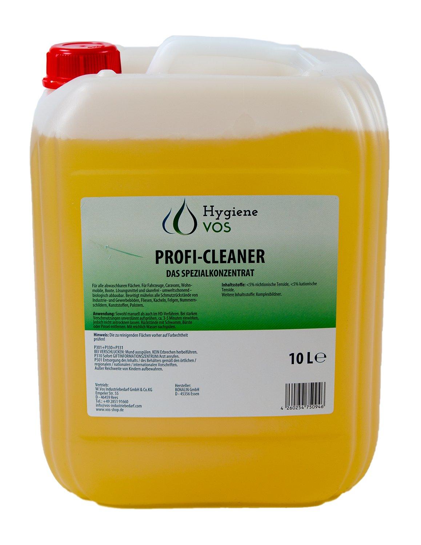 Higiene VOS profesional Cleaner especial concentrado 10litros Garrafa limpiador multiusos para el hogar Caravana Caravana Caravan Barcos y yates...