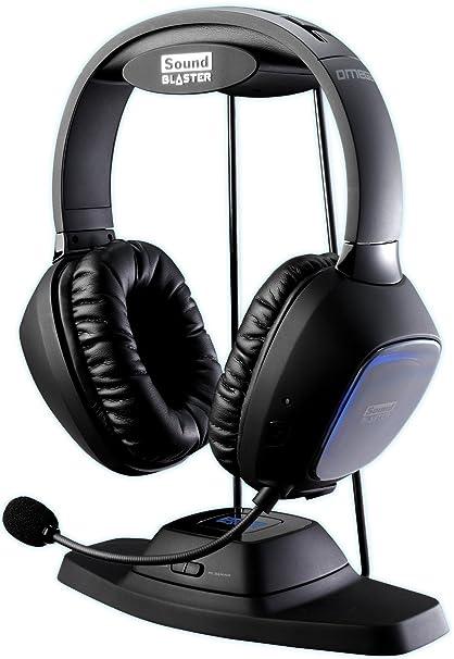 Creative SoundBlaster - Auriculares de diadema cerrados inalámbricos (con micrófono, incluye soporte, USB