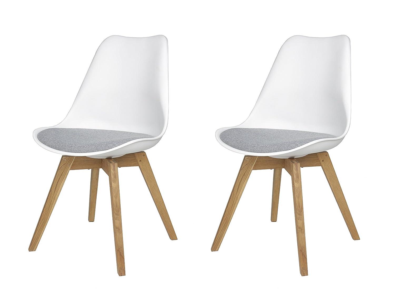 Stühle weiß grau  tenzo 3317-413 Tequila 2-er Set Designer Stühle Bess mit Stoffpad ...