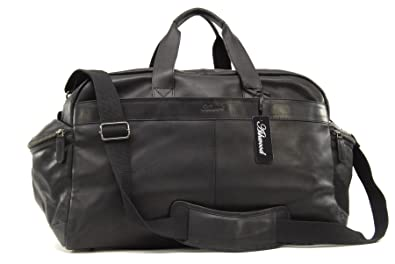 Ashwood Travel Bag - Weekend Holdall - Black Leather: Amazon.co.uk ...