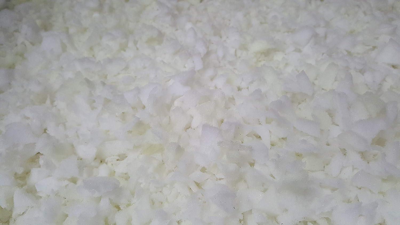 Copos de espuma triturados, para rellenos de cojín, almohada o futón, espuma de poliuretano, Blanco, 10 kg: Amazon.es: Hogar