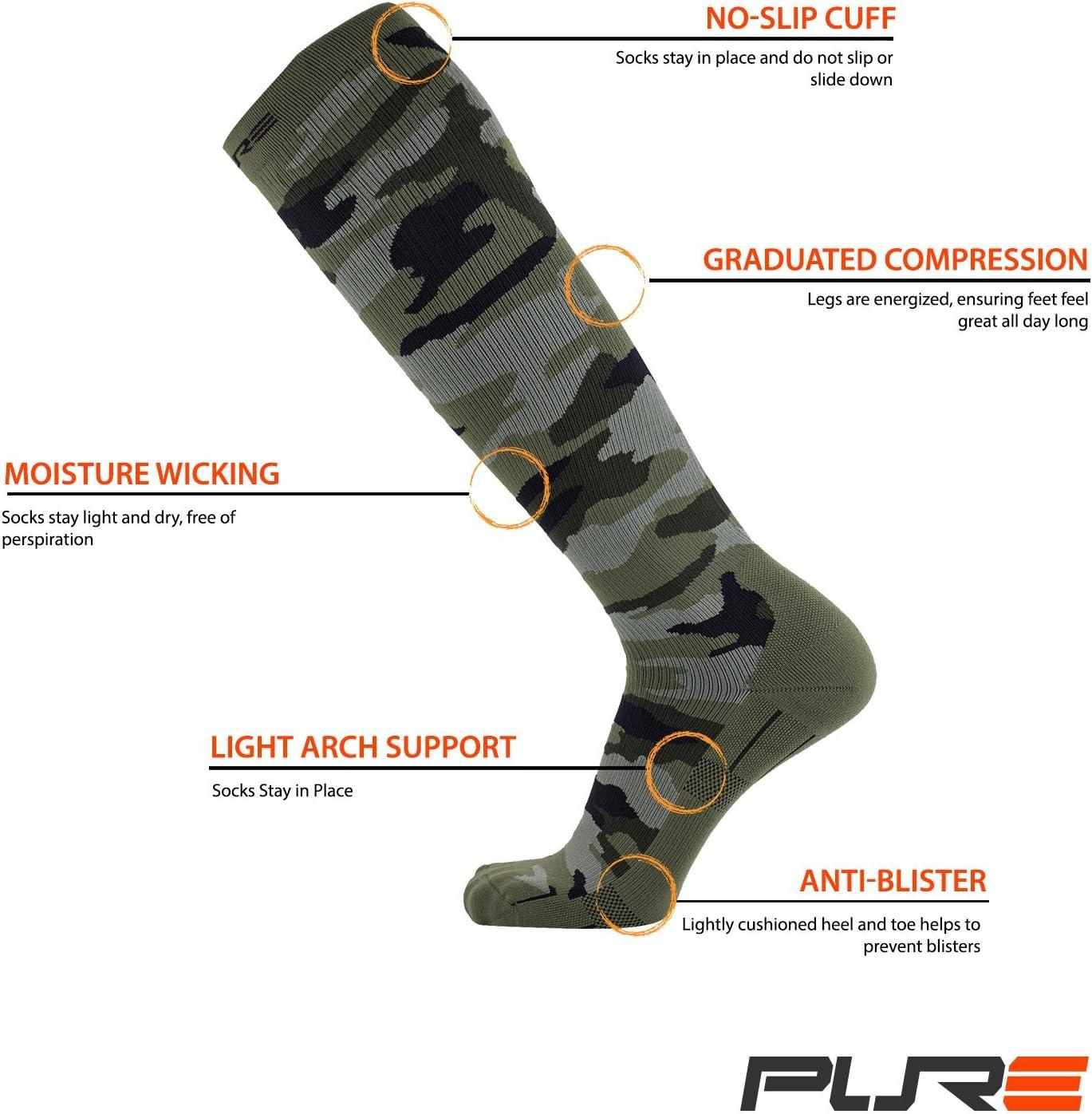 Women Camo Compression Socks for Men Best Graduated Compression Socks