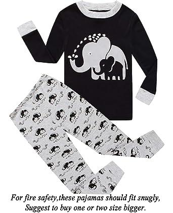 f9dfc69772 Dolphin Fish Boys Pajamas Elephant Little Kids Pjs Sets 100% Cotton Toddler  Sleepwears Children Clothes 5T