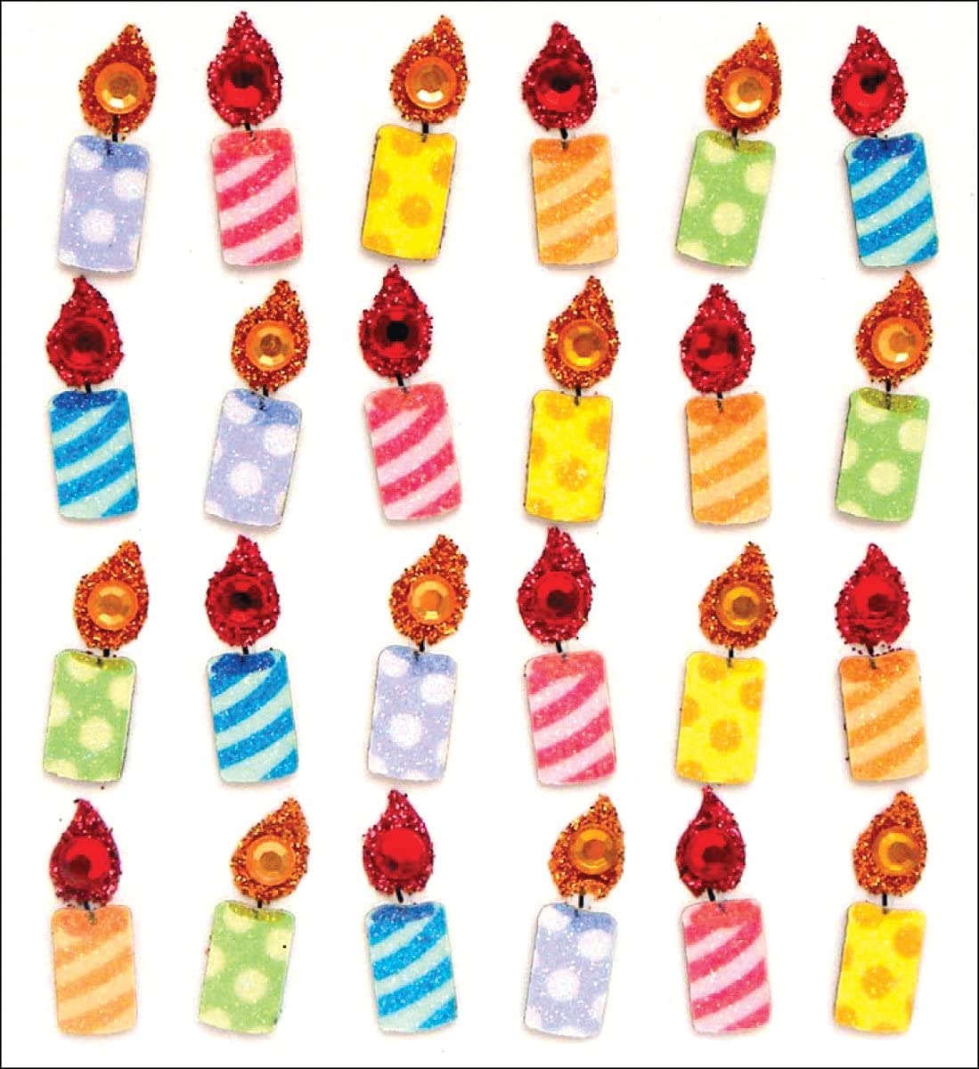 BALLOONS CANDLES HATS GIFTS CARDS BIRTHDAY BASH EK SUCCESS STICKO STICKERS