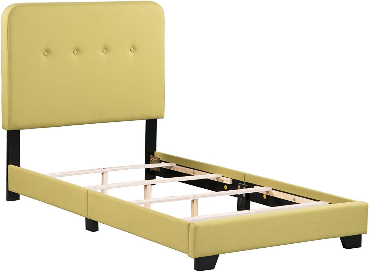 Boraam Helene Box Twin Bed, Seagrass