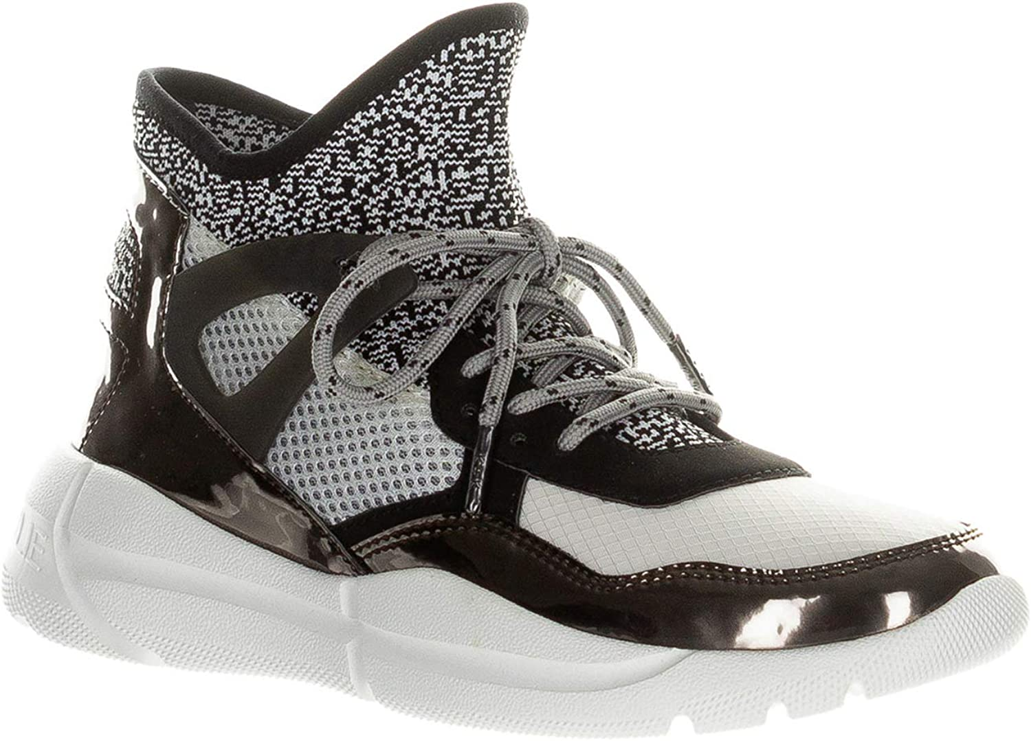 Kendall + Kylie Women's North Sneakers Pewter-Black-White Pewter Black White