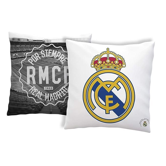 Real Madrid CF - Cojín oficial anti-estrés del club (34 x 34 ...