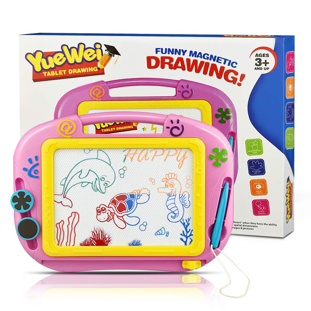 Tesoky Educational Toys for 3-12 Year Old Boys Girls, Toddler Toys for Boys Age 3-12 Magnetic Drawing Board for Kids Birthday Gifts for Girls Age 3-12 (Pink A) GGPA by Tesoky (Image #7)