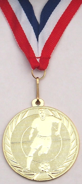 Especial 14x fútbol medalla con cinta (medalla de oro) TrophiesUK