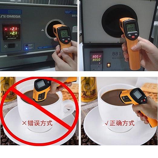 Homyl Termómetro digital IR GM1650 Medidor de Temperatura -50~420 ℃ (-58~788 ° F) para Cocinar Parrilla, prueba de Temperatura de Refrigerador: Amazon.es: ...
