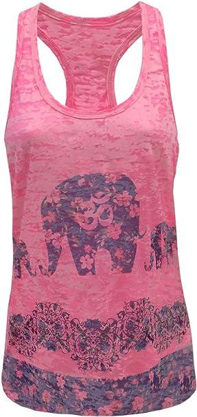 Tough Cookies Womens 3 Elephant Yoga Sublimation Burnout Tank Top