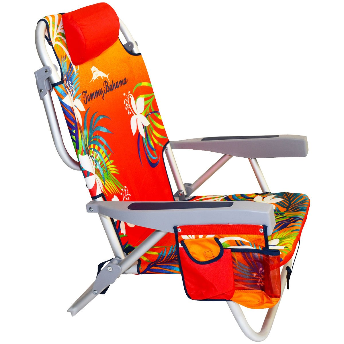 2 Tommy Bahama 2016 Backpack Cooler Chair with Storage Pouch and Towel Bar (Orange/Red & Orange/Red) by Tommy Bahama (Image #3)