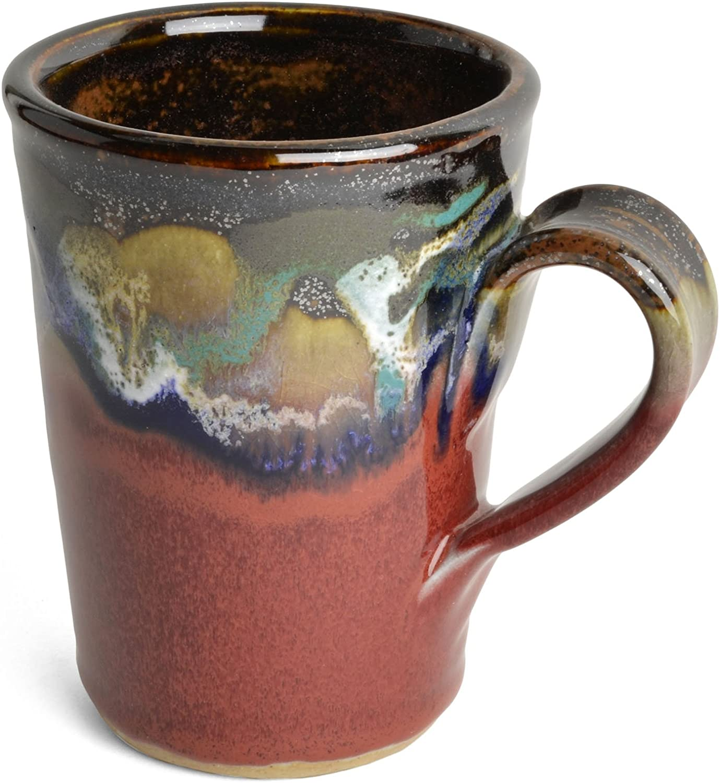 Larrabee Ceramics Coffee Mug, Red/Multi