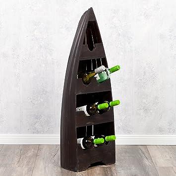 Bootsregal VinoM DarkBrown Dekoregal Boot Regal Weinregal Cm
