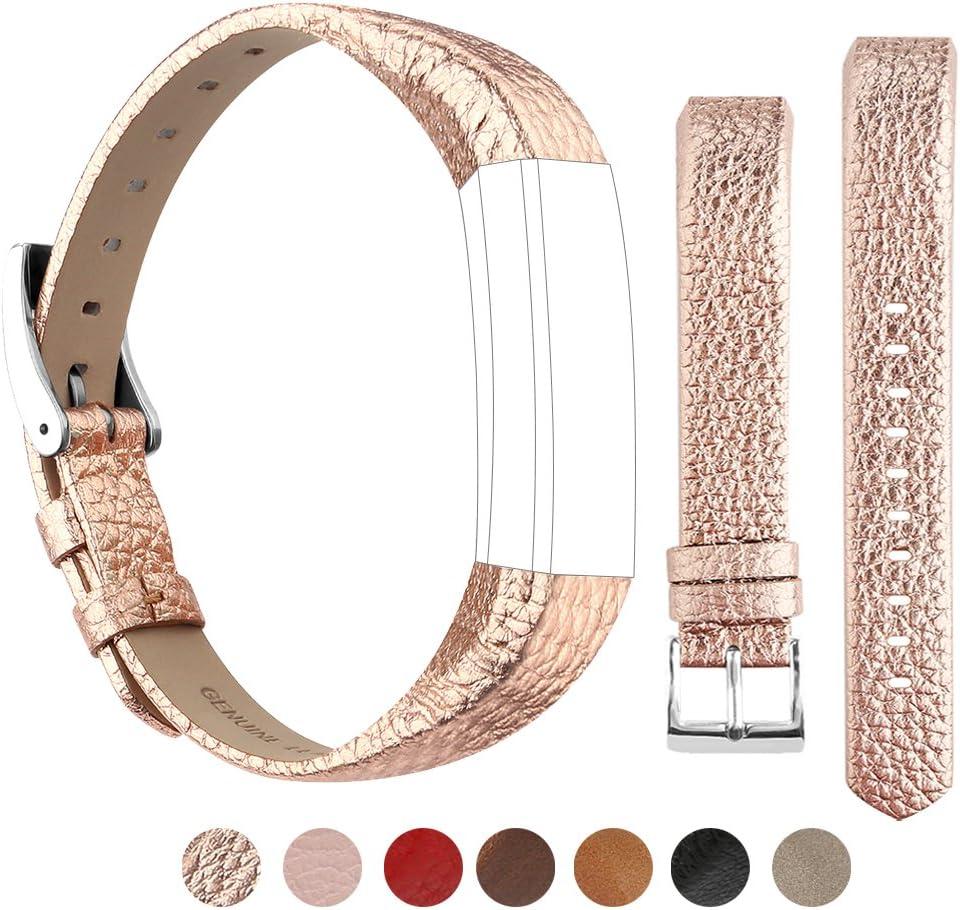 Tobfit Bracelet pour Fitbit Alta HR Bracelet de Remplacment en Cuir R/églable pour Fitbit Alta//Fitbit Alta HR
