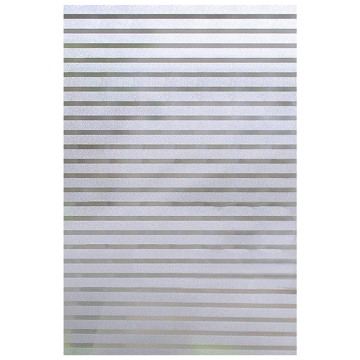 Pellicola per Finestra Adesivo per Vetro EASEHOME Pellicole per Vetri Pellicola Privacy Opaca Pellicola Smerigliata Per Finestre Autoadesive Anti-UV Decorativa Vetrofanie 17.7x78.7(45x200cm), 3D Striscia