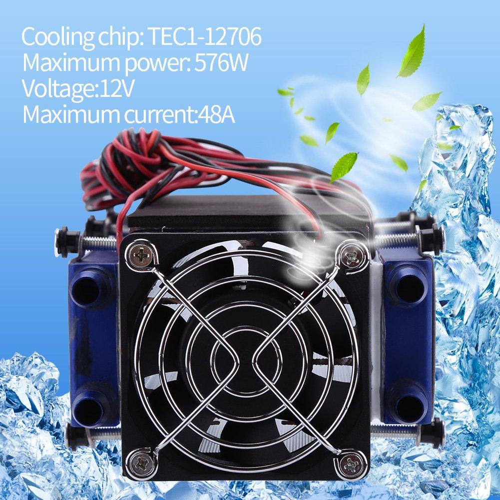 12V 8-Chip Thermoelektrischer Kühlung System Kühler Lüfter für Plattenkühlung