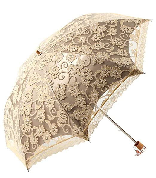 Vintage Style Parasols and Umbrellas  Fashion Lace Umbrella - Sun Protective                               $15.38 AT vintagedancer.com
