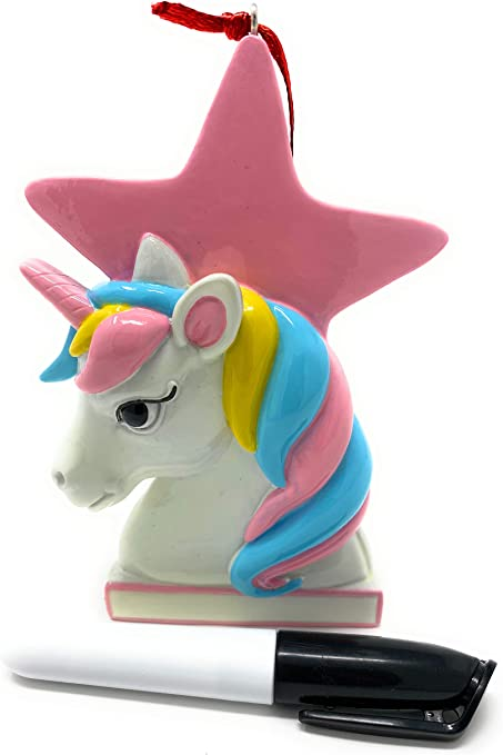 Personalized Granddaughter Christmas Ornaments 2020 Amazon.com: 3MAZINGS Christmas Ornaments Tree Ornament Unicorn