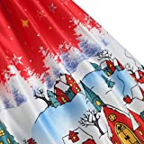 QBQCBB Women's Short Sleeve Crew Neck Casual Flared Printed Christmas