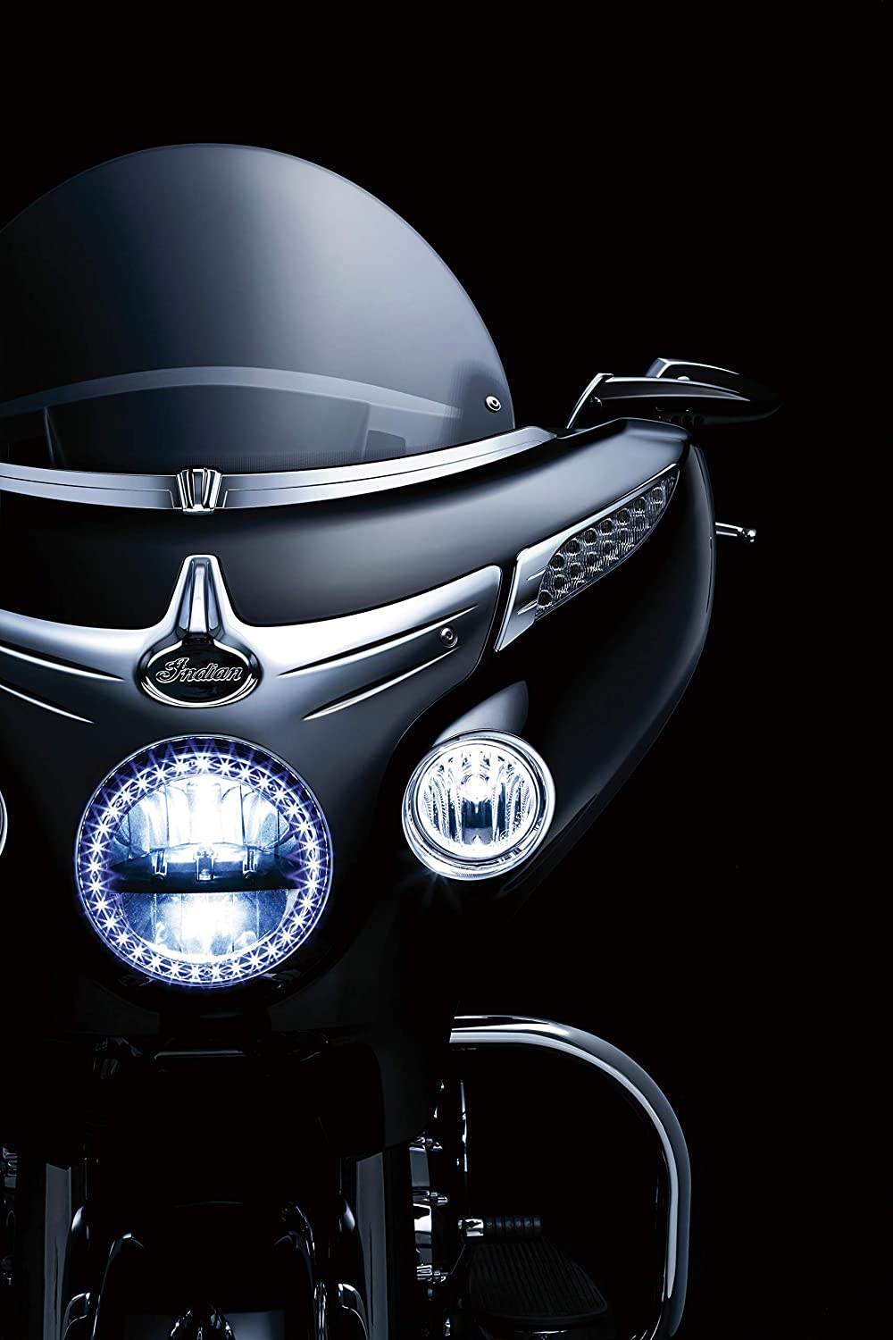1 Pair Kuryakyn 5621 Motorcycle Accent Accessory Fairing Turn Signal Trim for 2014-19 Indian Motorcycles Chrome