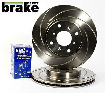 300ZX Z32 Twin Turbo discos de freno de espiral de frontal acanalado con EBC bluestuff pastillas de freno: Amazon.es: Coche y moto