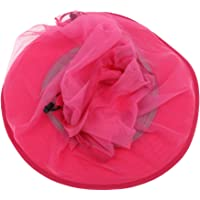 F Fityle Rose Red Mosquito Hat Head Net Pritector Insect Bee Fly Bug Mesh Camping