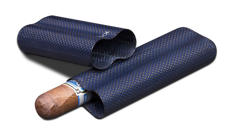 Visol Products Kevlar Lightweight Cigar Case, Holds 2 Cigars of Up to 58 Ring Gauge, Blue by Visol
