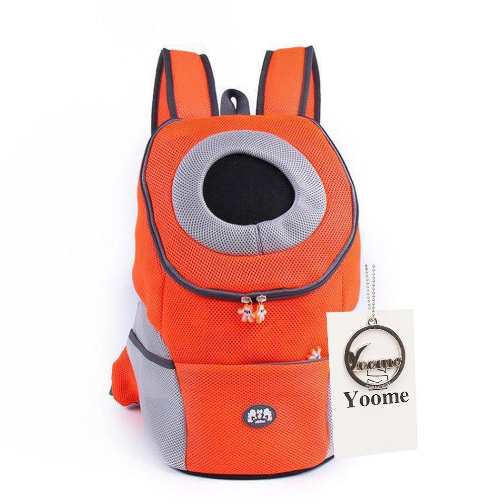 Yoome Sac de transport confortable pour chien et chat Sac à dos voyage Pour chiens de petite taille Pour vélo, randonnée, plein air YooHJCW0018 Black-L