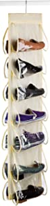 Hanging Shoe Organizer - 14 Pockets - The Clear Pockets Will Protect your Shoes, Handbags or Purse and Enable you to Find Them Easily. Hang it in a Closet to Keep your Closets Neat and Organized.